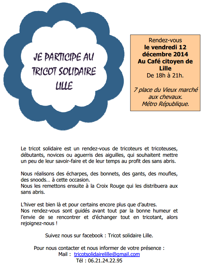 tricot solidaire lille
