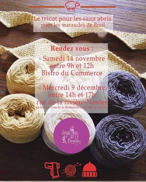 Le tricot pour les sans-abris à Nantes